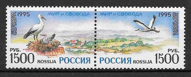 sellos tema Europa Rusia 1995