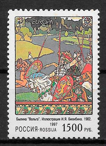 sellos Europa Rusia 1997