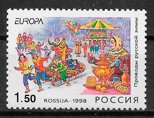 sellos Europa Rusia 1998