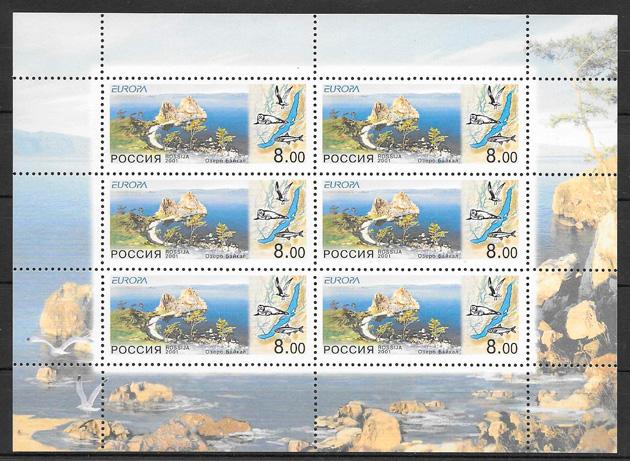 sellos tema Europa Rusia 2001