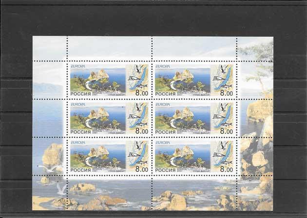 Colección sellos Tema Europa Rusia El Agua Riqueza Natural