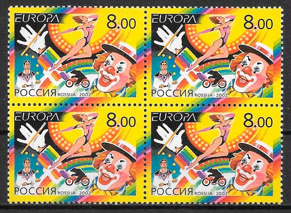 filatelia colección Europa Rusia 2002
