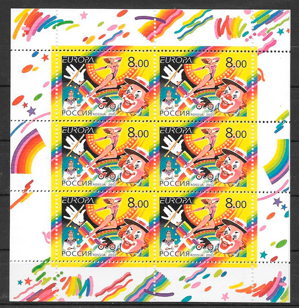 sellos tema Europa Rusia 2002