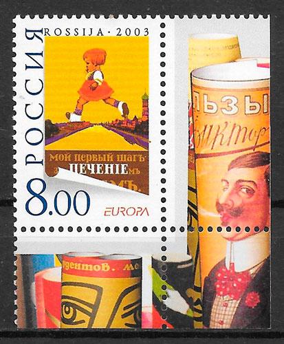 filatelia colección Europa Rusia 2003