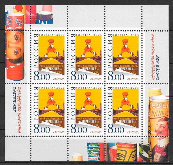 sellos tema Europa Rusia 2003