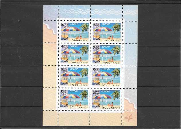 Colección sellos Tema Europa Rusia Las vacaciones 2004
