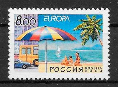 sellos tema Europa Rusia 2004