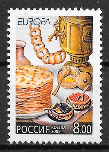colección sellos Europa Rusia 2005