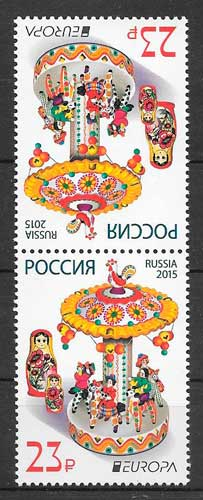 sellos tema Europa Rusia 2015