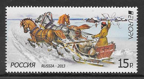 filatelia colección tema Europa Rusia 2013