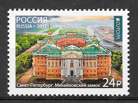 sellos tema Europa Rusia 2017