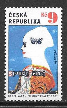 colección sellos Tema Europa Chequia 2003