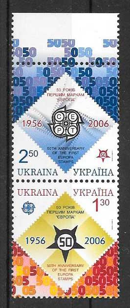 filatelia tema Europa Ucrania 2006