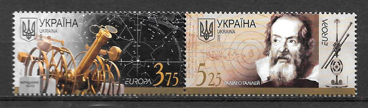 colección sellos tema Europa Ucrania 2009