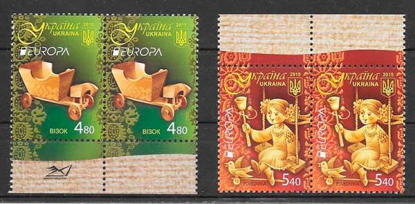 filatelia colección tema Europa Ucrania 2015