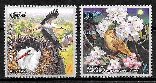 colección sellos Europa Ucrania