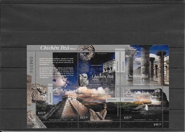 Colección sellos arqueología México 2007