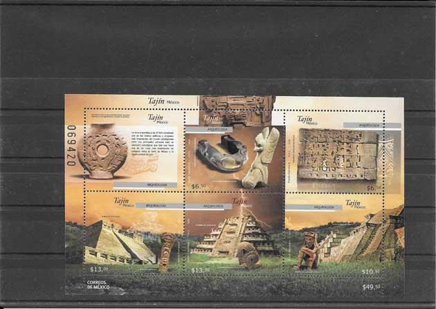 Estampillas tema Arqueologia de México