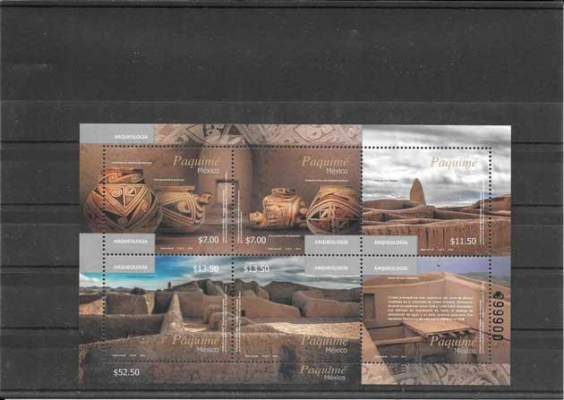 Estampillas Patrimonio-Arqueologia México 2014
