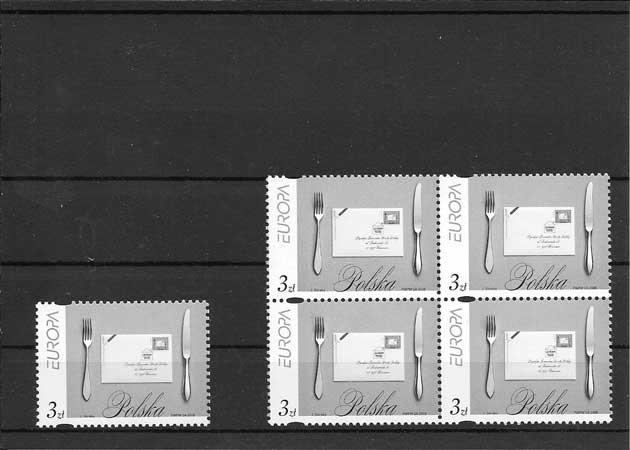 Colección sellos Tema Europa 2008 Polonia La Escritura