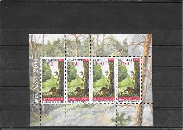 Filatelia sellos Tema Europa Los Bosques Bulgaria