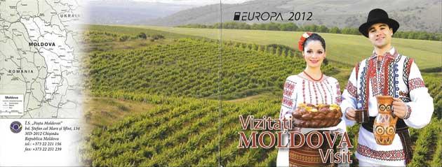 Estampillas Tema Europa Moldavia Turismo 2012-02