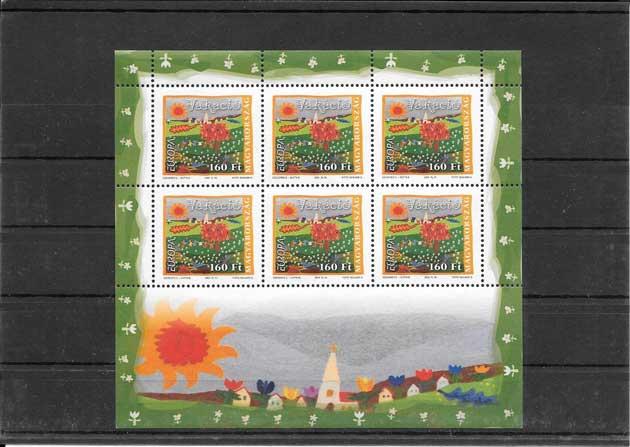 Filatelia sellos Tema Europa Hungría Las Vacaciones