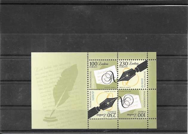 Estampillas sellos Tema Europa Hungría La Escritura de una Letra