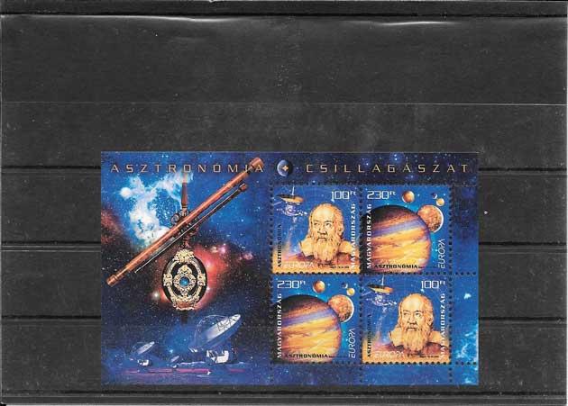 Estampillas sellos Tema Europa Hungría La Astronomía