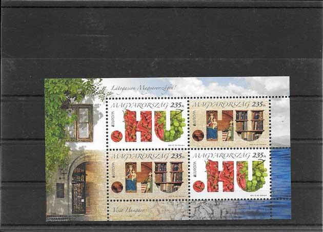Sellos Filatelia Tema Europa Hungría Turismo