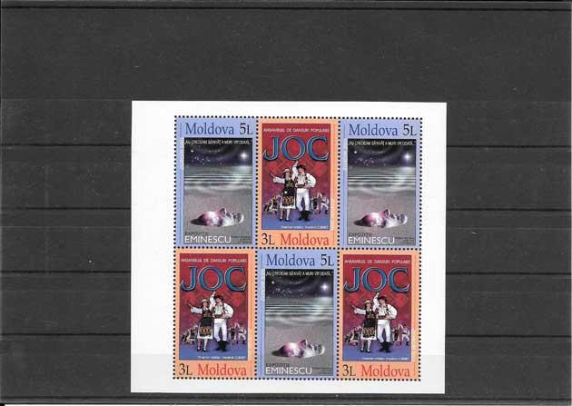 sellos Tema Europa Moldavia-2003-01