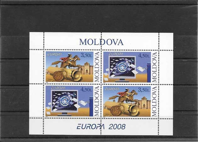 sellos Tema Europa Moldavia-2008-01