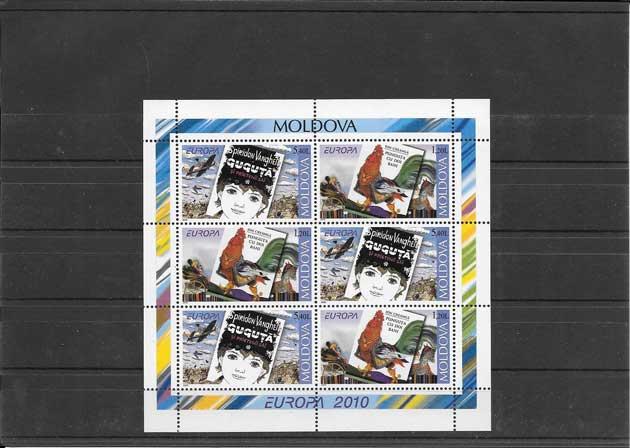 Colección sellos Tema Europa niñez y fauna de Moldavia
