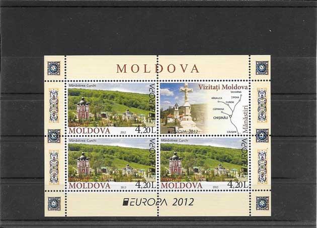 Estampillas Tema Europa Turismo Moldavia
