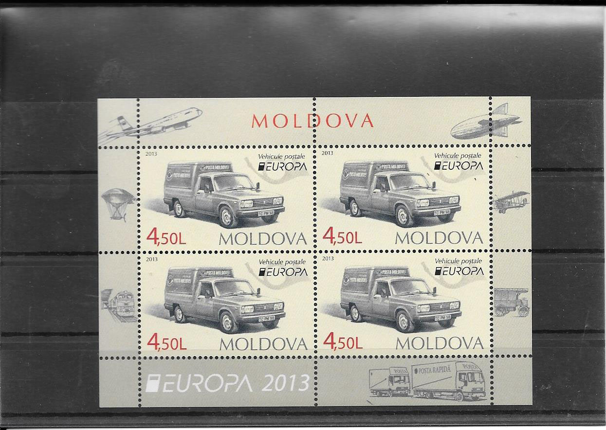Estampillas Tema Europa Vehículos Postales Moldavia