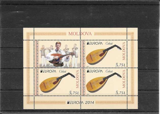 Sellos Filatelia Tema Europa Moldavia Instrumentos Musicales