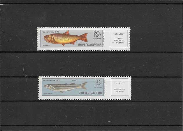 Sellos fauna peces Argentina