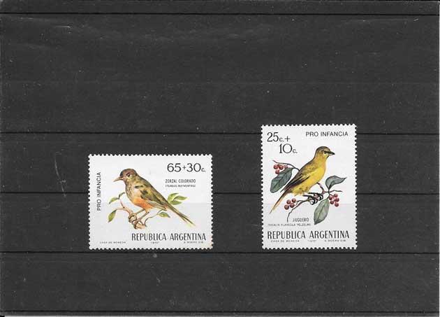 Sellos fauna serie aves del país