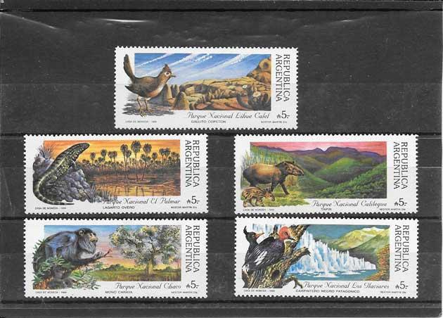 Sellos filatelia fauna variada Argentina-1989-01