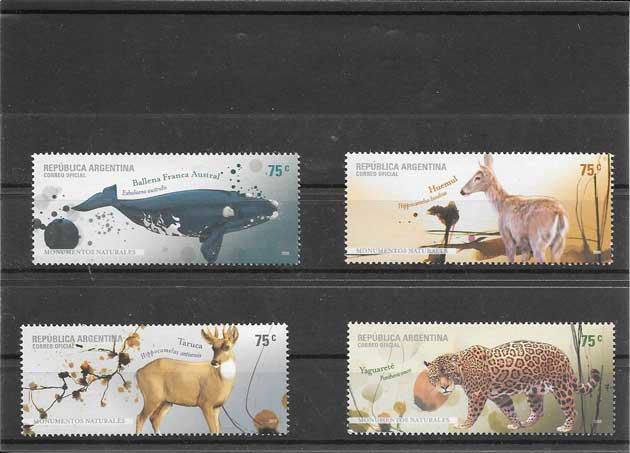 Colección sellos fauna parques naturales