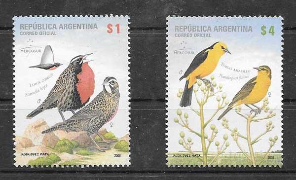 sellos fauna Argentina 2008