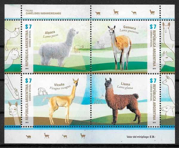 colección sellos fauna Argentina 2015