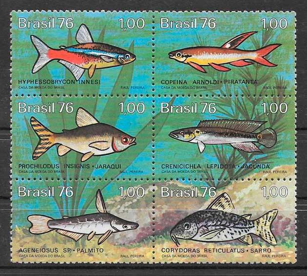 sellos fauna Brasil 1976