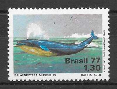 sellos fauna Brasil 1977