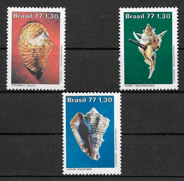 filatelia fauna Brasil 1977