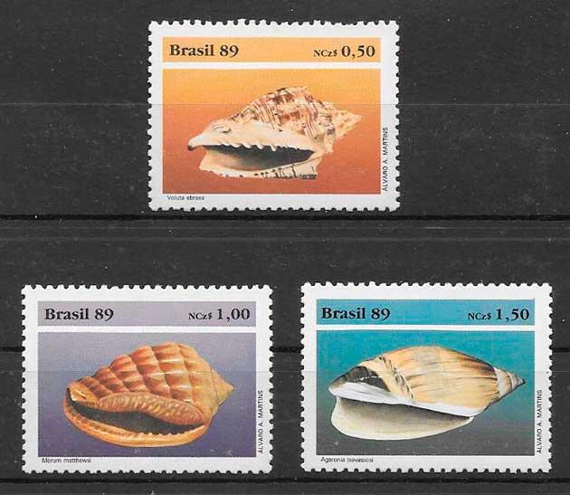 filatelia fauna Brasil 1989