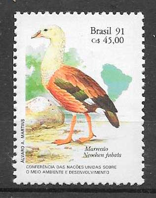 sellos fauna Brasil 1991
