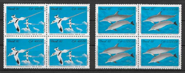 sellos fauna Brasil 1992