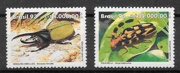 sellos fauna Brasil 1993