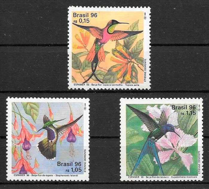 sellos fauna Brasil 1996